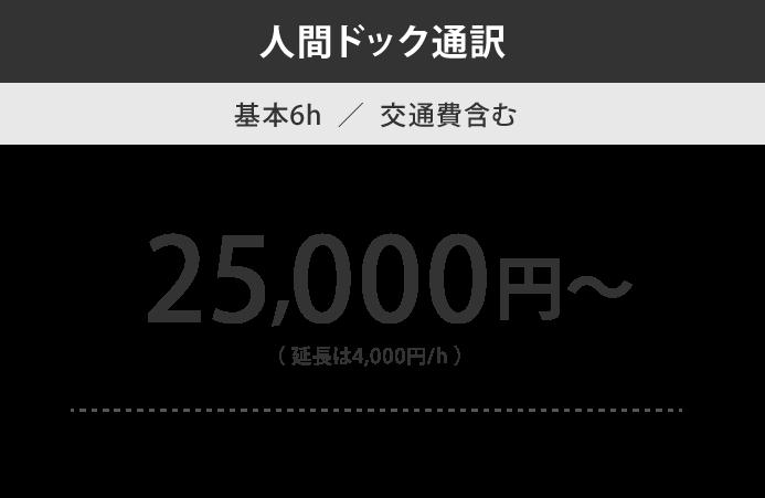 人間ドック通訳料金